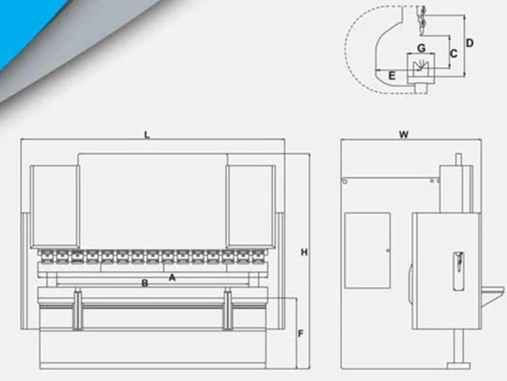 Вертикальный листогибочный пресс Metal Master серии HPJ 25160 с ЧПУ E-21