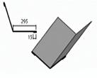 Ендовая малая нижняя доборный элемент для кровли на листогибе Van Mark