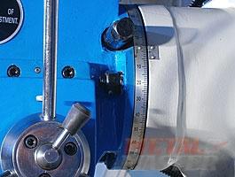 поворотная фрезерная головка с линейкой сверлильно-фрезерного станка MetalMaster DMM 50C