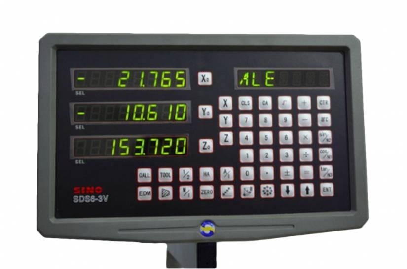 Многофункциональная УЦИ SINO SDS6-3V позволяет отслеживать перемещение по трем осям с дискретностью до 0,001 мм.